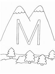 m - mountains (munţi)